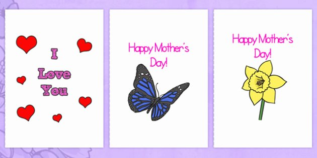 Mothers Day Cards Template Fresh Mothers Day Card Templates A4 Full Mother S Day Blank