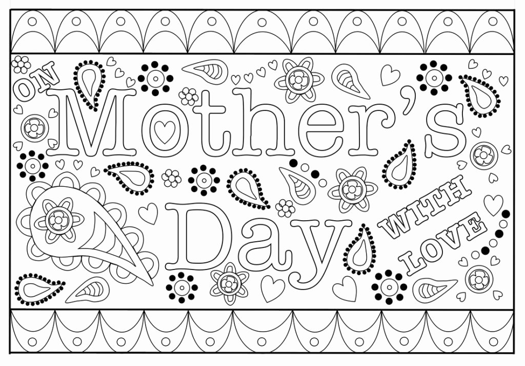 Mothers Day Cards Template Lovely Colouring Mothers Day Card Free Printable Template