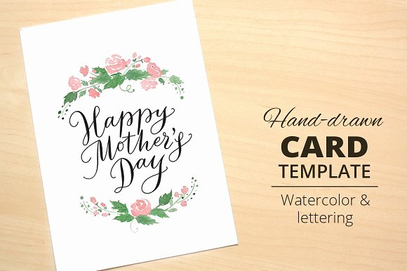 Mothers Day Cards Template Luxury Happy Mother S Day Card Template Card Templates On