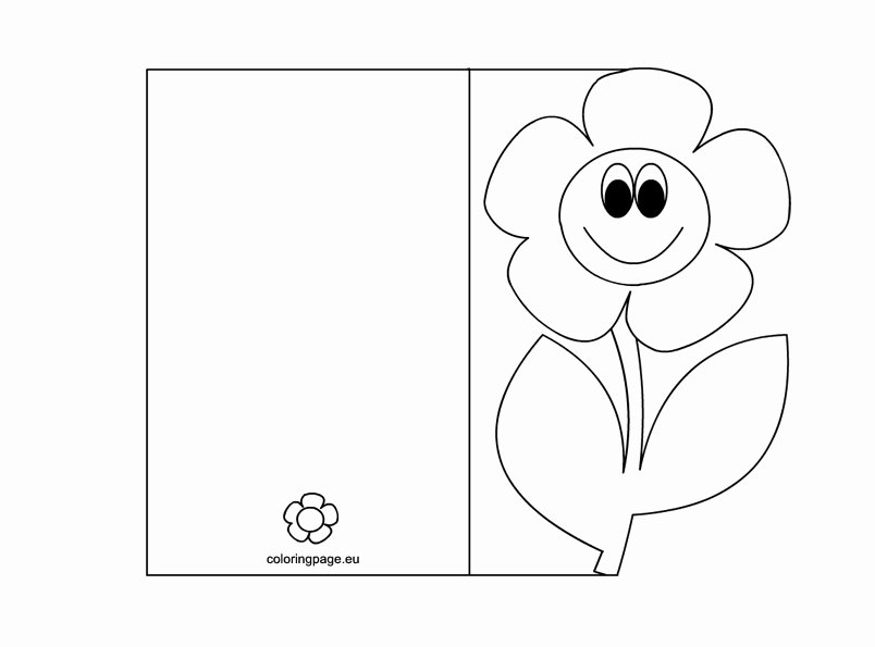 Mothers Day Cards Template Luxury Postcard Coloring Page Robot Grig3