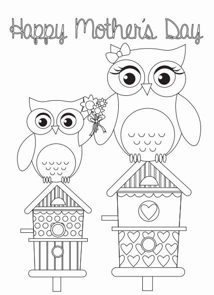 Mothers Day Cards Template New Colouring Printables Mother S Day Card Templates