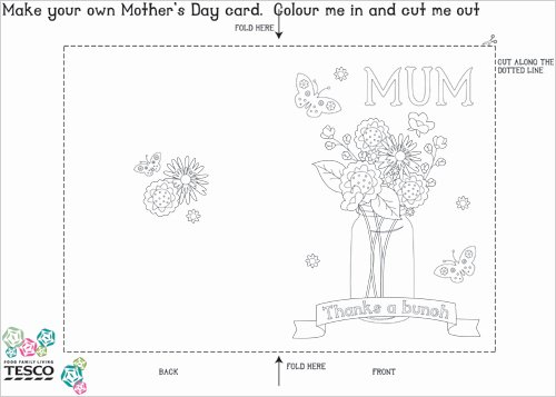 Mothers Day Cards Template New My Owl Barn Printable Mother S Day Coloring Card Templates
