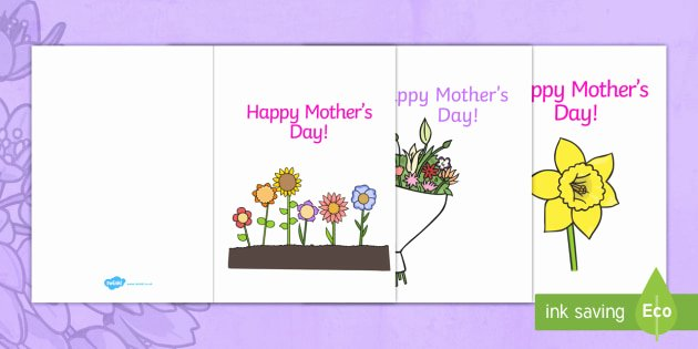 Mothers Day Cards Template Unique Free Ks1 Mother S Day Card Templates