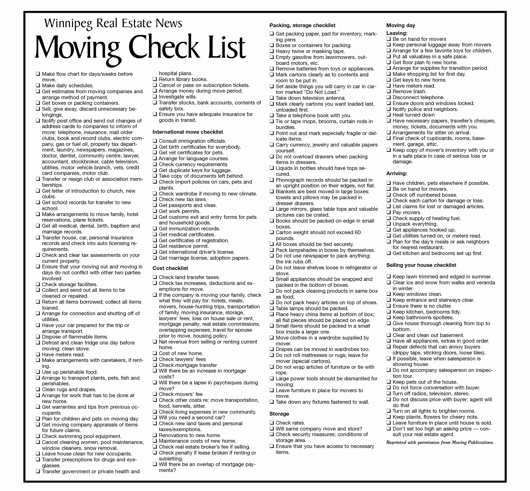 Move In Checklist Template Awesome Moving Checklist Template Moving Pinterest