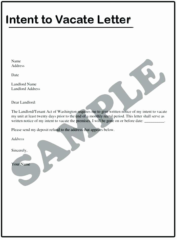 Move Out Letter Template Beautiful Day Notice Letter to Landlord Sample Moving Out Move