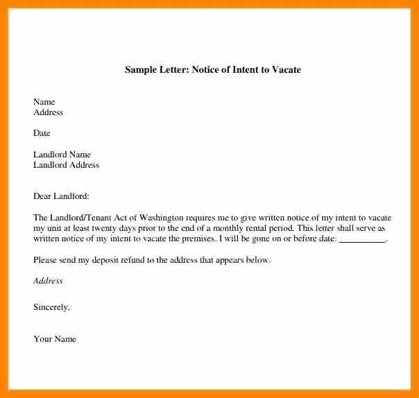 Move Out Letter Template Beautiful Day Notice Letter to Landlord Template Vacate Tenant Uk 4