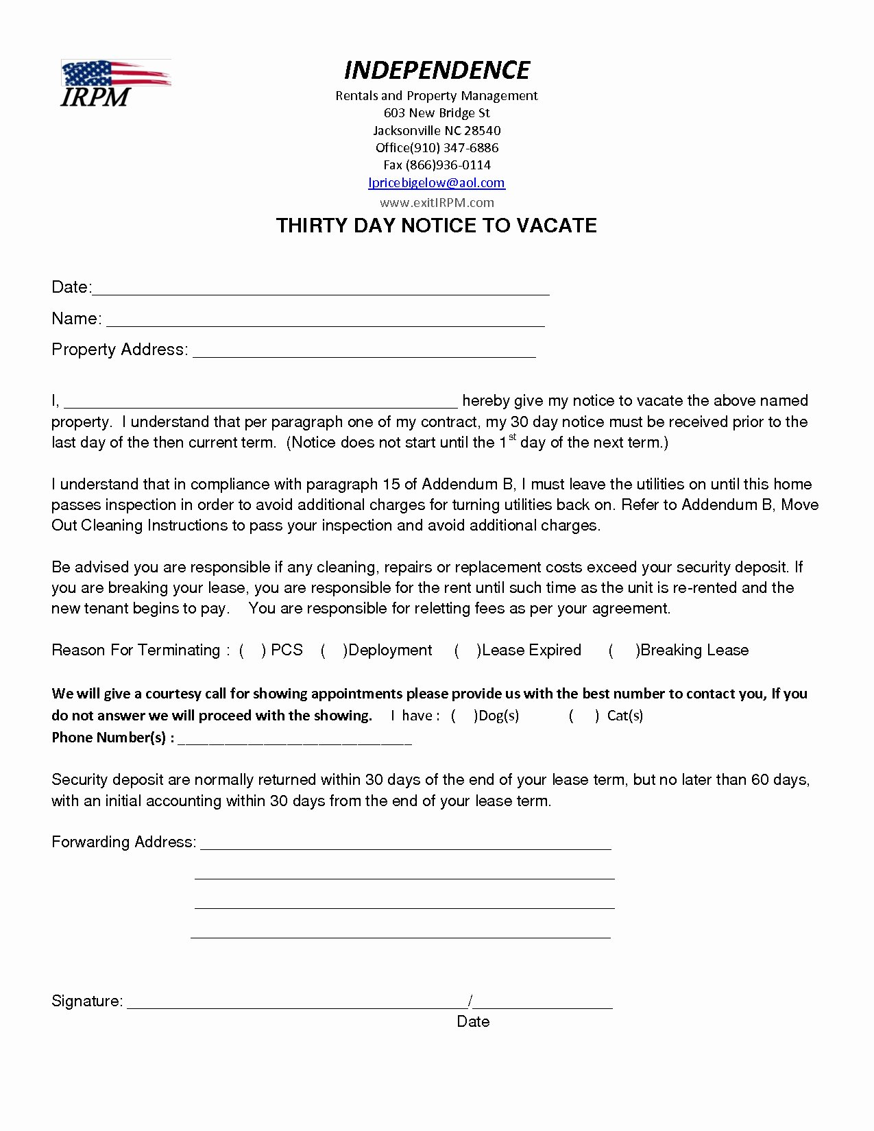 Move Out Letter Template Beautiful Notice to Vacate Apartment Letter Template Samples