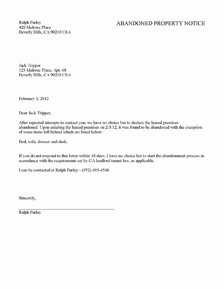 Move Out Letter Template Luxury Sample Letter to Landlord Moving Out Letter Of