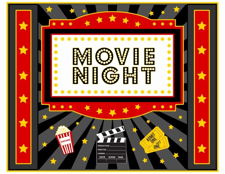 Movie Night Flyer Template Beautiful Free Movie Night Party Printables by Printabelle