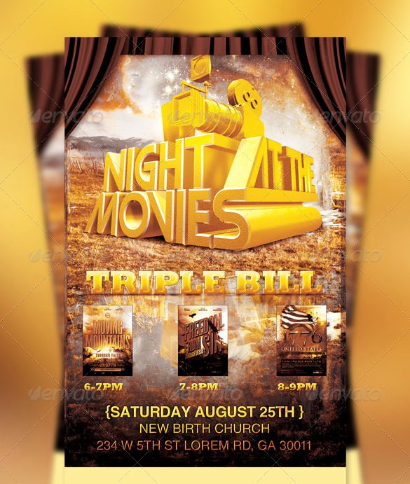 Movie Night Flyer Template Fresh 19 Movie Night Flyer Templates Ai Psd Word