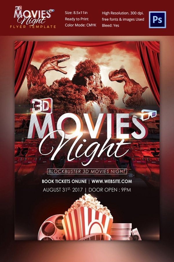 Movie Night Flyer Template Fresh Movie Poster Templates – 44 Free Psd format Download