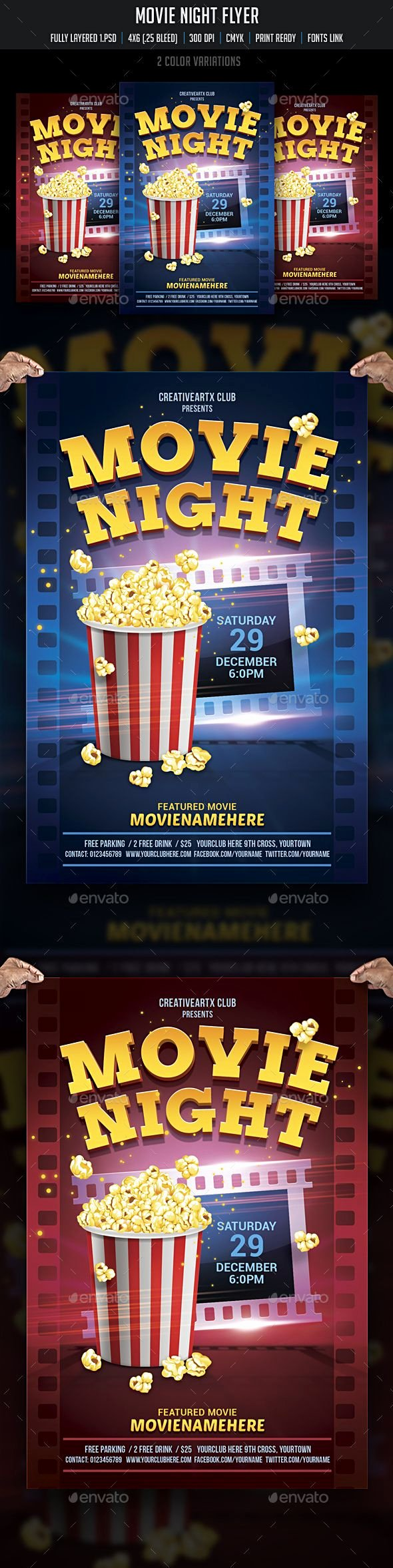 Movie Night Flyer Template Luxury 1000 Ideas About Movie Poster Template On Pinterest