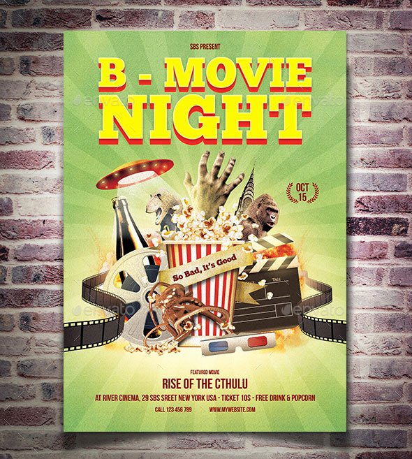 Movie Night Flyer Template Luxury 25 Psd Movie Night Flyer Design Templates