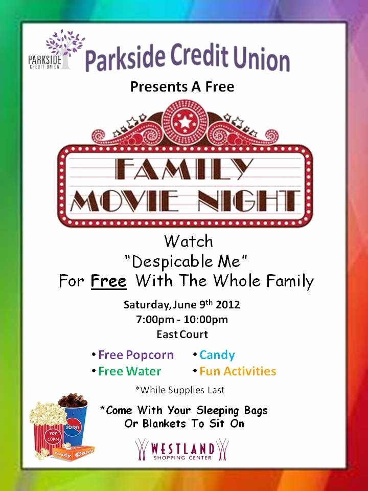 Movie Night Flyer Template Unique 7 Best Of Printable Movie Night Flyer Template