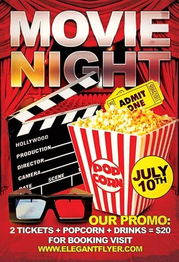 Movie Night Flyer Template Unique Grand Opening