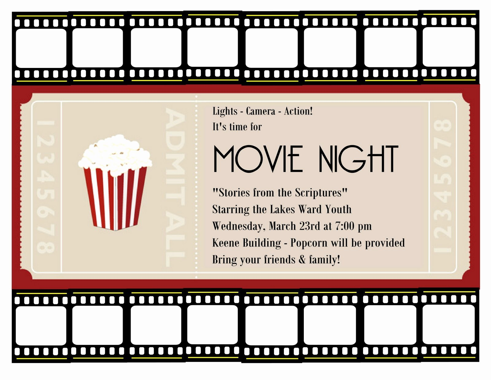 Movie Night Invitation Template Best Of A Place for the Lady Good Times at Church