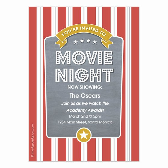 Movie Night Invitation Template Elegant Popcorn Movie Night Invitations & Cards On Pingg
