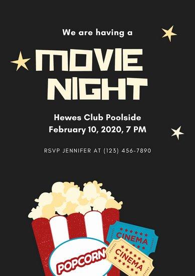 Movie Night Invitation Template Unique Customize 69 Movie Poster Templates Online Canva