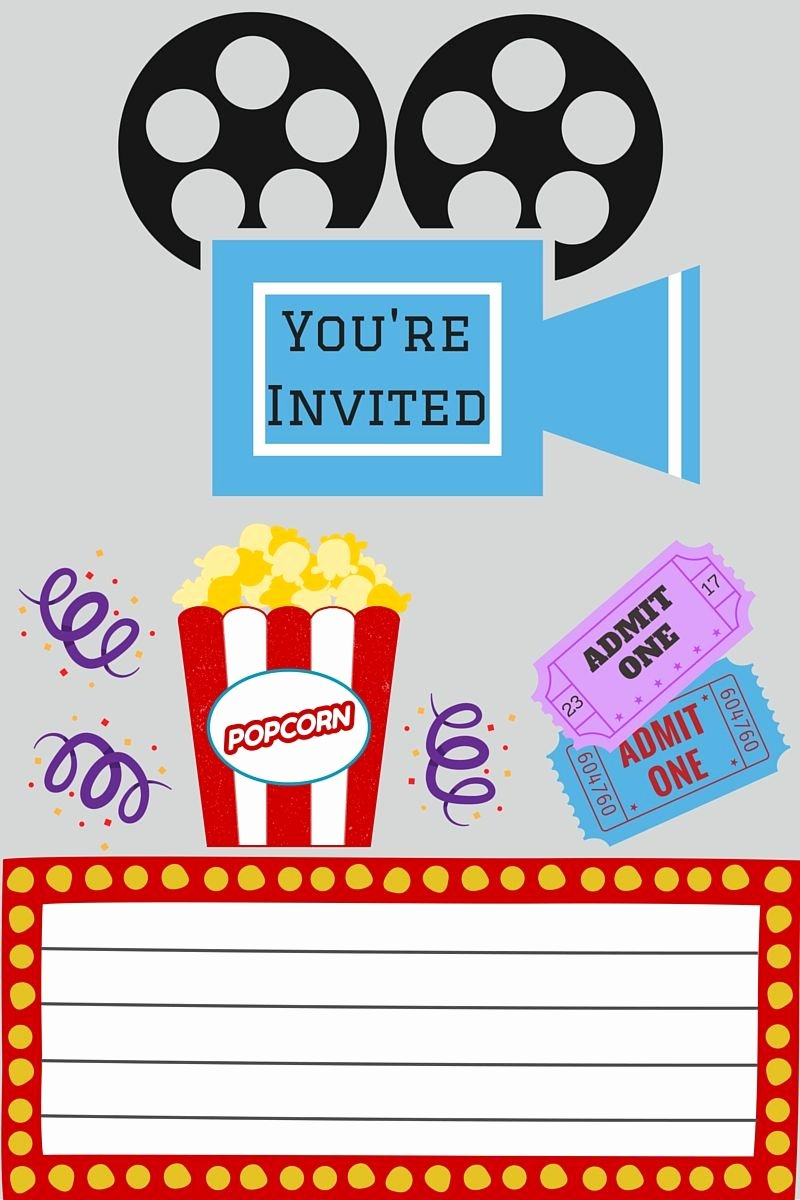 Movie Night Invitation Template Unique Free Printables