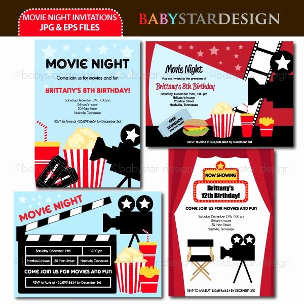 Movie Night Invitation Template Unique these Adorable Invitation Templates are Perfect for Movie