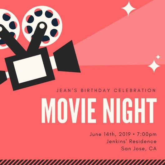 Movie Night Invite Template Fresh Customize 646 Movie Night Invitation Templates Online Canva