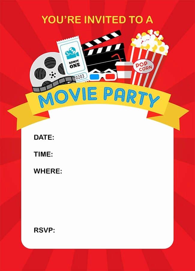 Movie Night Invite Template Fresh How to Throw A Fun Backyard Movie Party