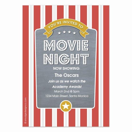 Movie Night Invite Template Luxury Popcorn Movie Night Invitations & Cards On Pingg