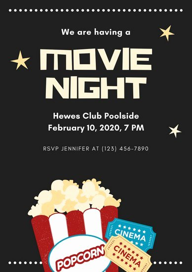 Movie Night Invite Template New Customize 83 Movie Poster Templates Online Canva