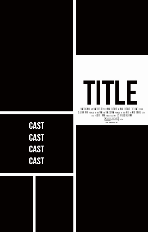 Movie Poster Credits Template Best Of 4 Grid Movie Poster Templates by Stormyhale On Deviantart