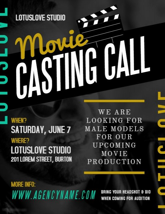 Movie Poster Credits Template Best Of Audition Flyer Templates Related Keywords Audition Flyer