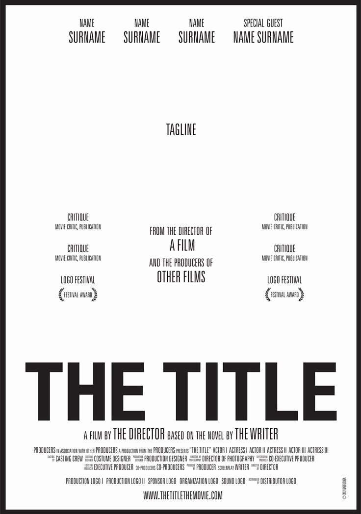 Movie Poster Credits Template Elegant Image Result for Diy Movie Poster Business Card
