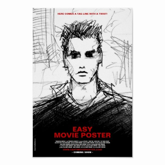 Movie Poster Credits Template Fresh 1 Character Him Frontal Movie Poster Template