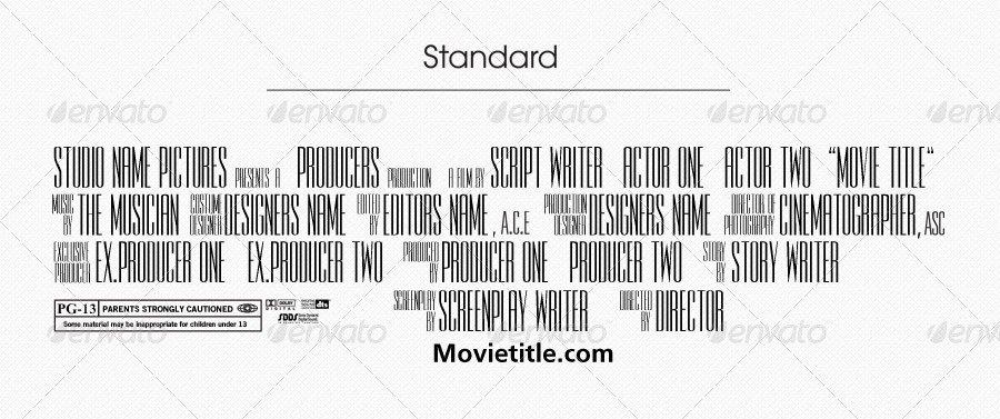 Movie Poster Credits Template Fresh Jinwook S Billing Block Template by Jinwook