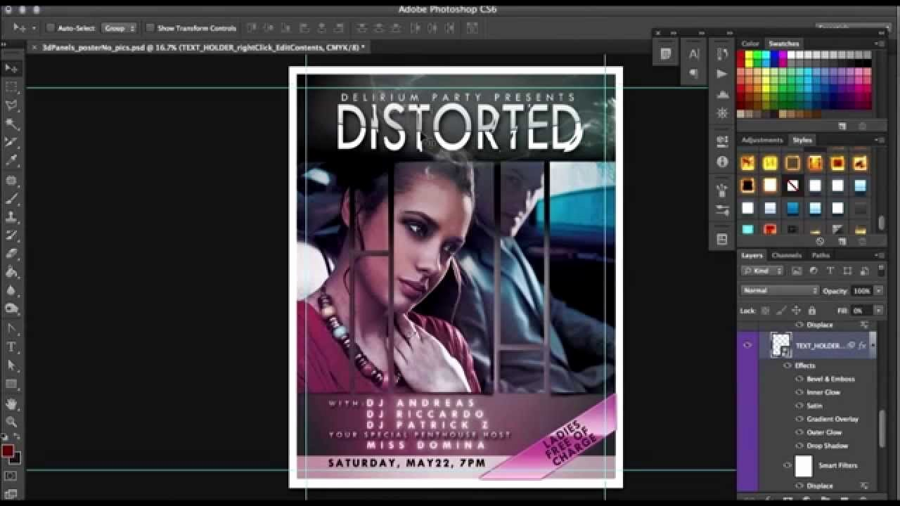 Movie Poster Template Photoshop Awesome How to Movie Poster Template for Shop Tutorial by