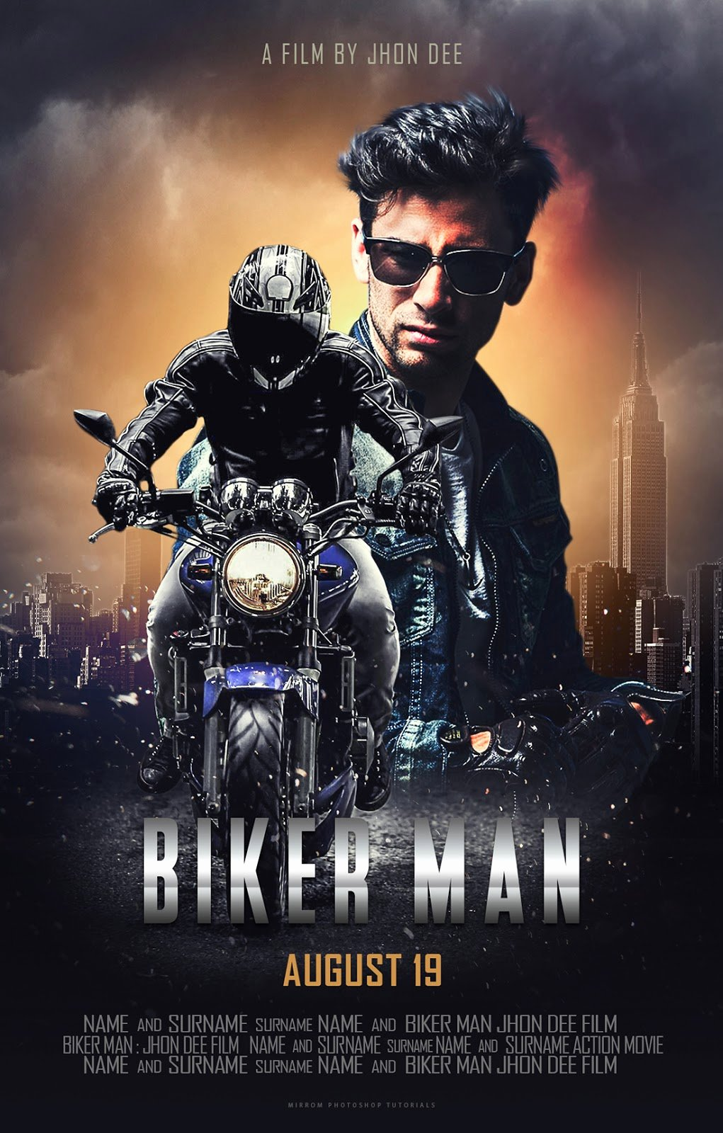 Movie Poster Template Photoshop Elegant Create A Blockbuster Style Movie Poster Design In Shop
