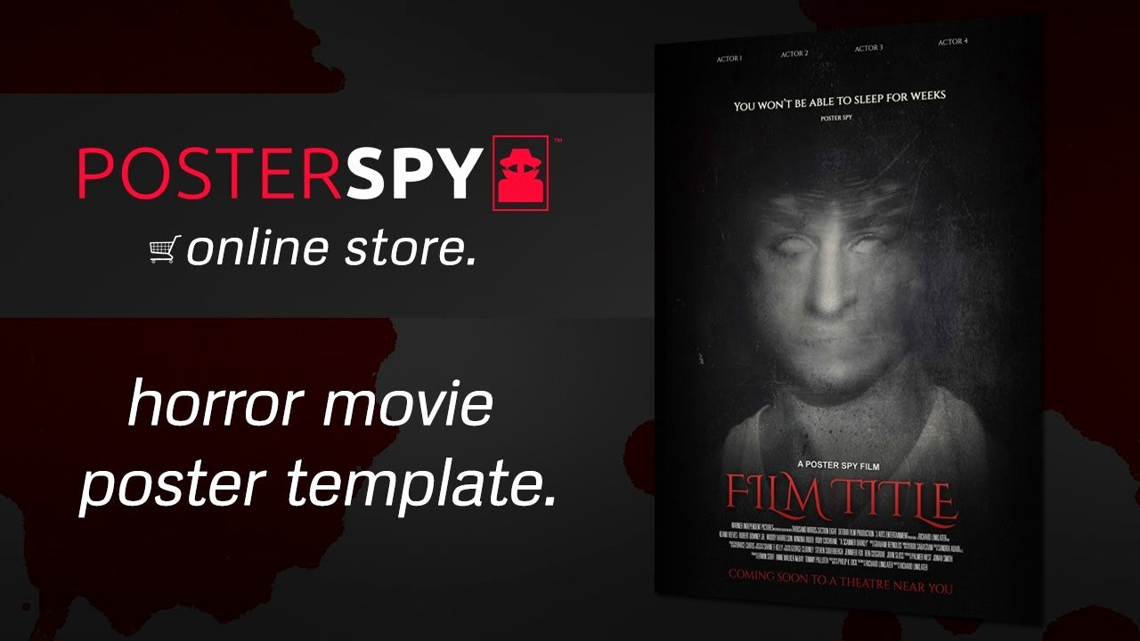 Movie Poster Template Photoshop Elegant Movie Poster Photoshop Template Gallery