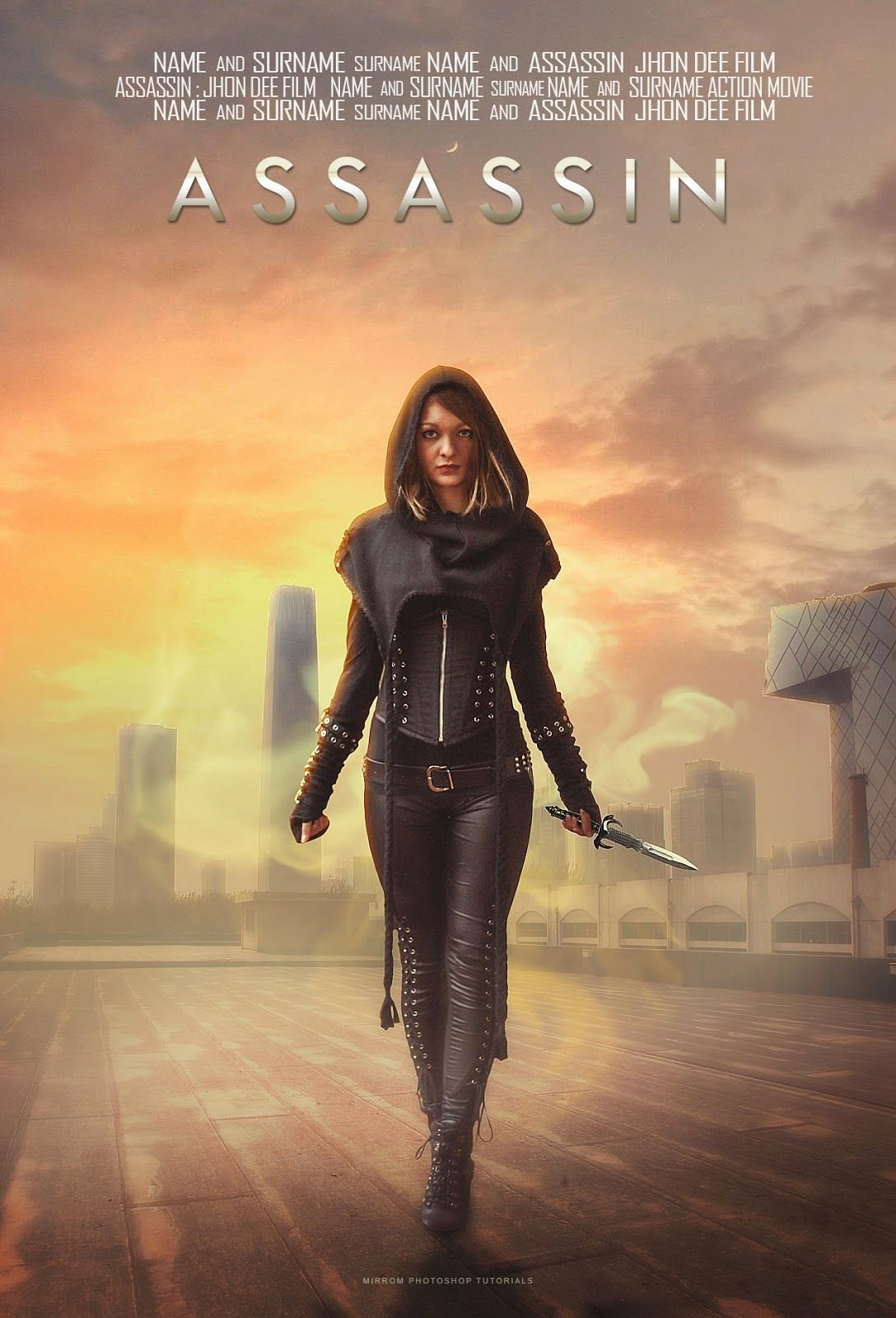 Movie Poster Template Photoshop Lovely Create A assassin Movie Poster Manipulation In Shop