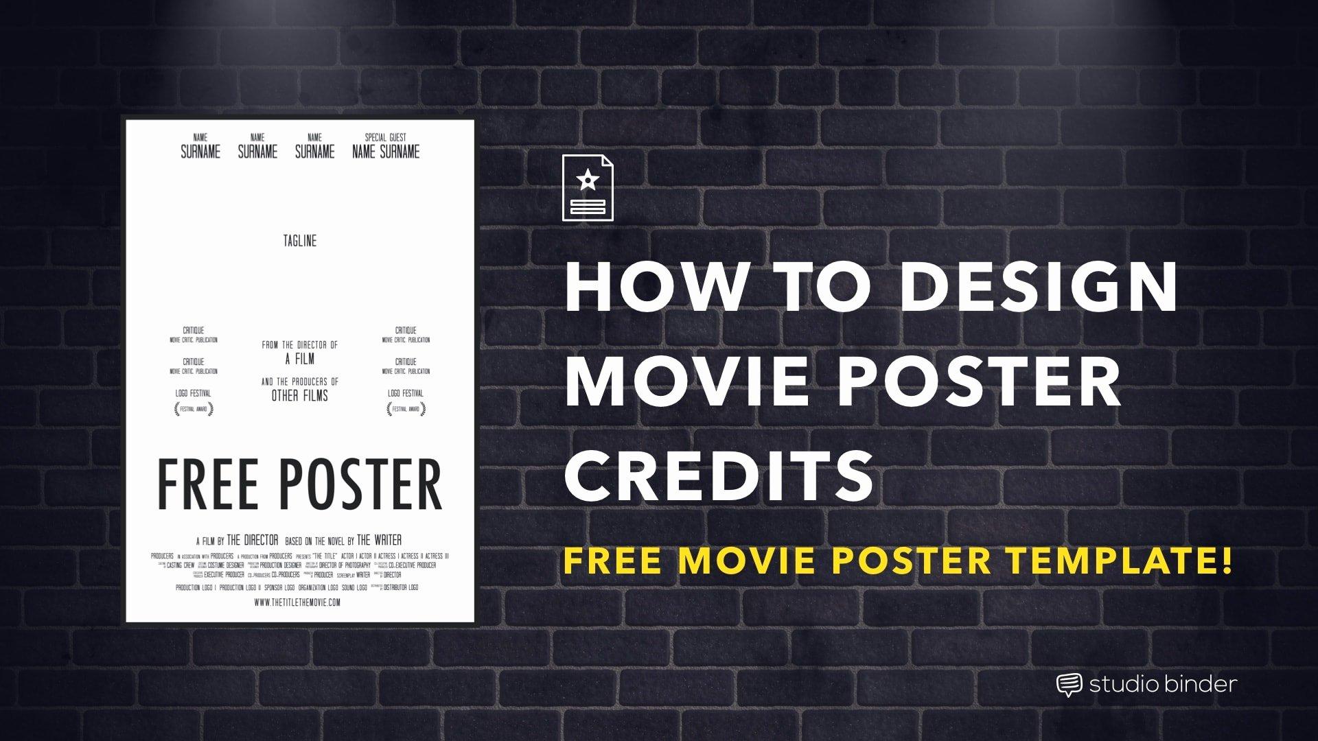 Movie Poster Template Photoshop Luxury Download Your Free Movie Poster Template for Shop