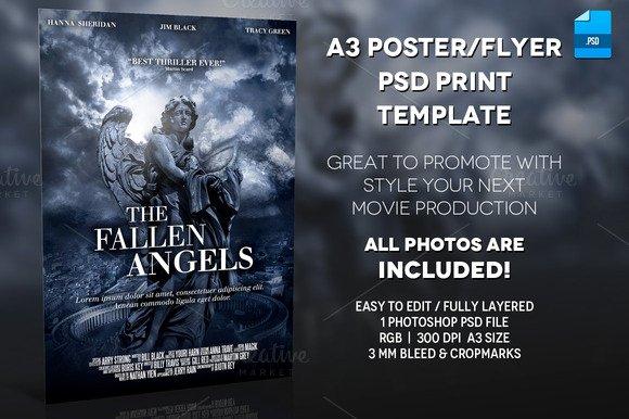 Movie Poster Template Photoshop Luxury English Blue Print Movie Rodoved