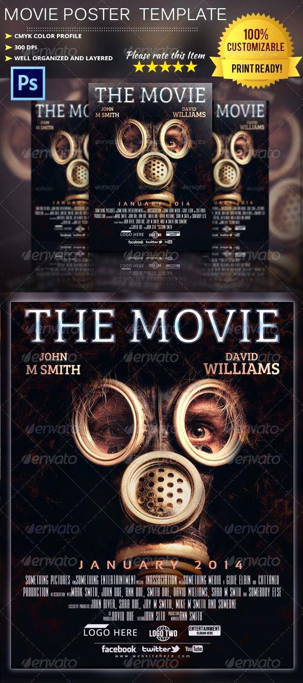 Movie Poster Template Photoshop Unique Poster Template Shop Free Movie Business Posters