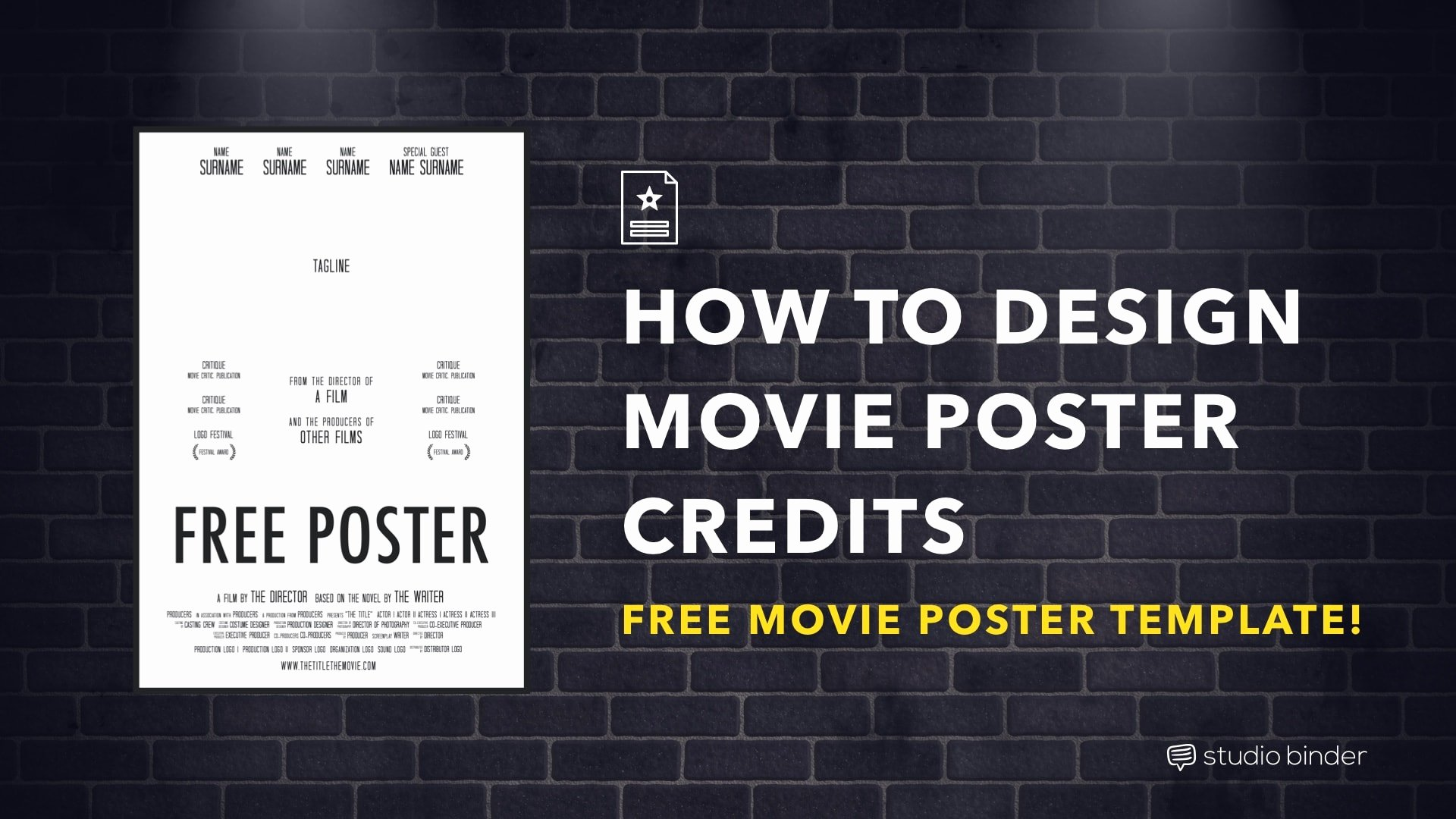 Movie Poster Template Psd Awesome How to Make A Movie Poster [free Movie Poster Credits
