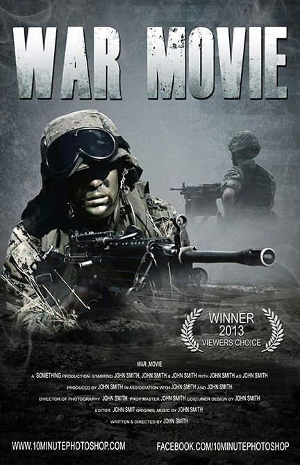 Movie Poster Template Psd Awesome War Movie Poster Template Psd