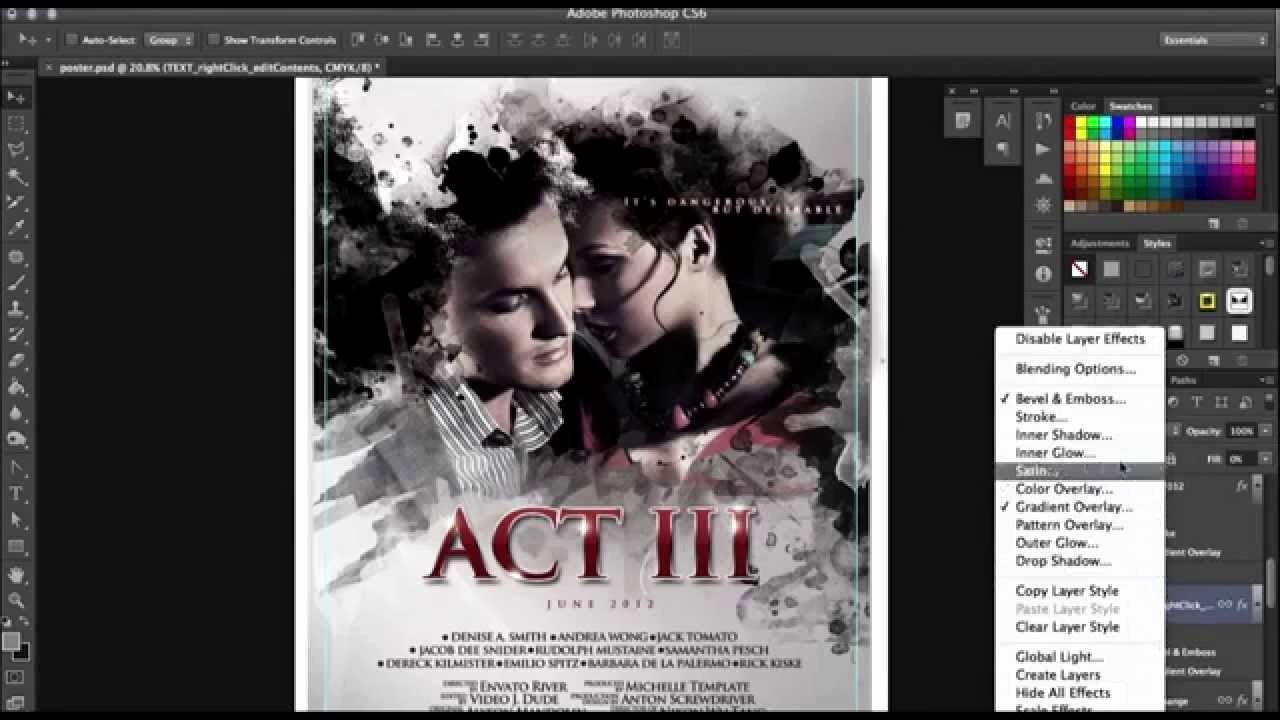 Movie Poster Template Psd Best Of How to Make A Poster In Shop In Minutes with No