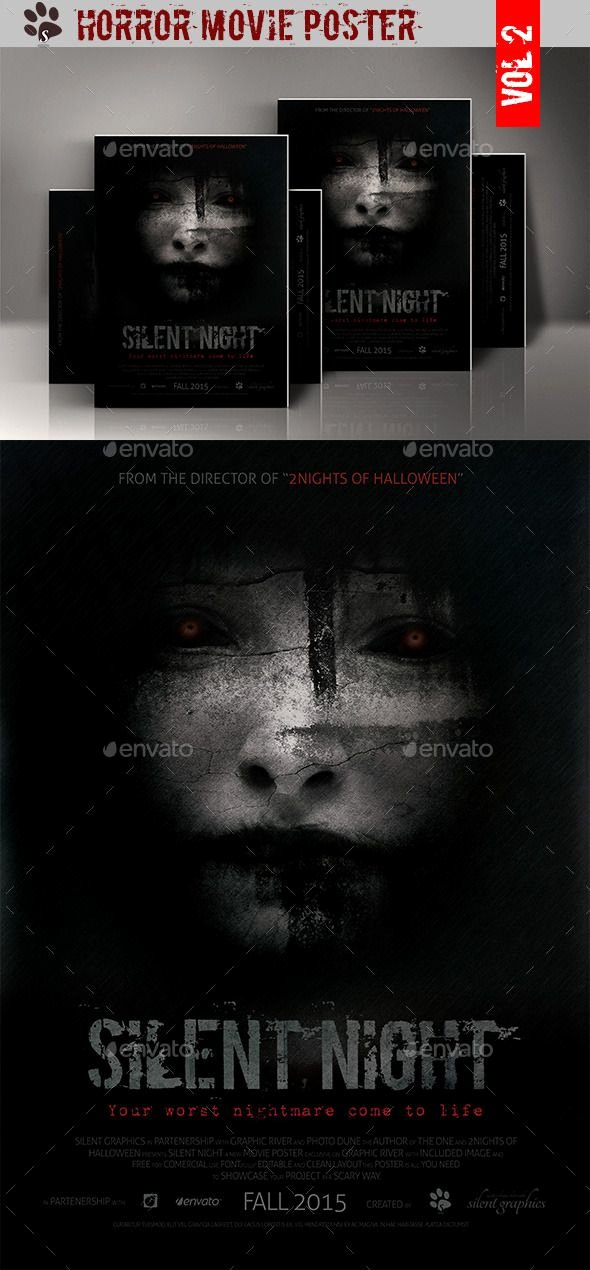 Movie Poster Template Psd Luxury Horror Movie Poster
