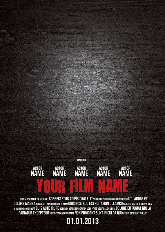 Movie Poster Template Psd Luxury Poster Templates