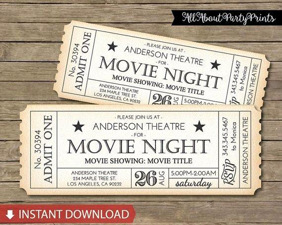 Movie Ticket Invitation Template Best Of Best 25 Movie Tickets Ideas On Pinterest