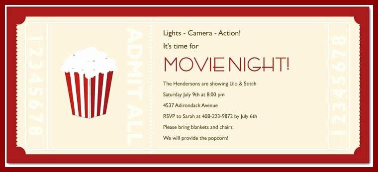 Movie Ticket Invitation Template Best Of Blank Movie Ticket Invitation Template New Party Birthday