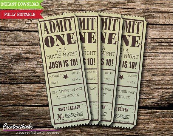 movie ticket template