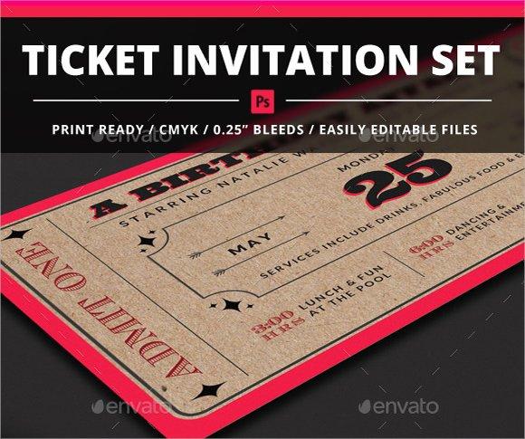 Movie Ticket Invitation Template Inspirational 18 Sample Ticket Invitations Psd Ai Word