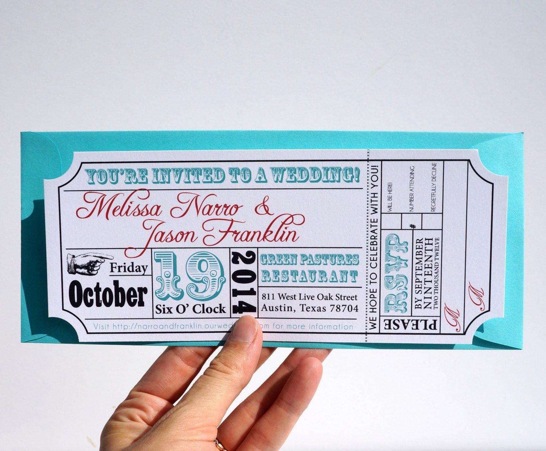 Movie Ticket Invitation Template Inspirational Movie Ticket Wedding Invitation